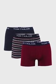 3 PACK синьо-червени боксерки Tom Tailor