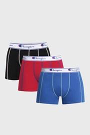 3 pack pánskych farbených boxeriek Champion