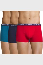 3 pack boxeri barbatesti DIM Cotton Stretch, rosu-albastru