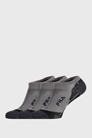 3 PACK sivých ponožiek FILA Invisible