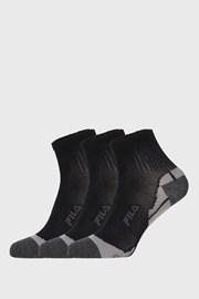 3 PACK crnih čarapa FILA Multisport