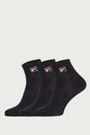 3-pack sosete negre joase FILA
