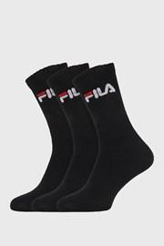 3 PACK μαύρες ψηλές κάλτσες FILA