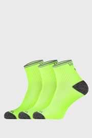 3 PACK športových ponožiek Ray žlté