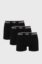 3 PACK čiernych boxeriek Umbro BIO
