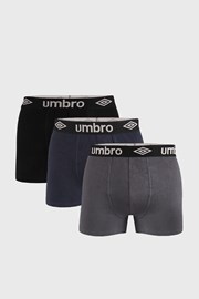 3 PACK боксерки Umbro Organic cotton