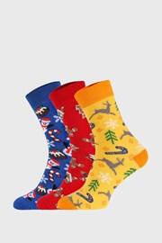 3 PACK vianočných ponožiek II