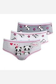 3 PACK dievčenských nohavičiek Pandas