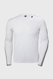 Λευκό μπλουζάκι με μακρύ μανίκι Helly Hansen
