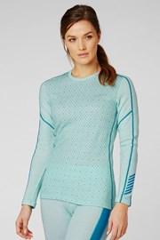 Жіноча синя функціональна футболка Helly Hansen Lifa Merino