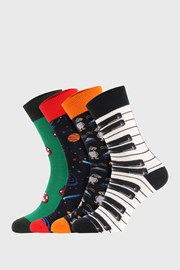 4 PACK ponožiek Bellinda Crazy Socks Space