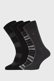 4 PACK черносиви чорапи Tommy Hilfiger