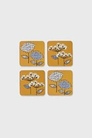 Parafa poháralátétek szettben Retró virágok