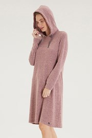 Voľnočasové ružové šaty Hoodie Dress