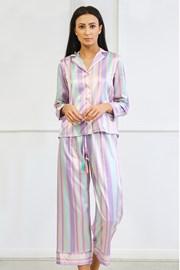 Saténové pyžamo Blanch dlhé