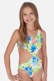 Jednoczęściowy dziewczęcy kostium kąpielowy Tropical