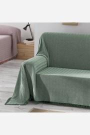 Aitana kanapévédő takaró, zöld