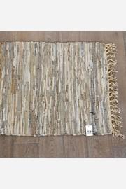 Home Design kis szőnyeg bőrből, bézs