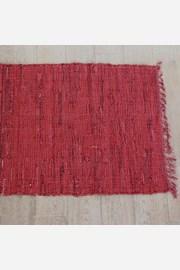 Dywanik Home Design ze skórą czerwony