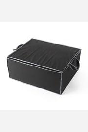 Textil tároló doboz, fekete