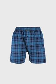 Comfort férfi alsónadrág, kék kockás mintás