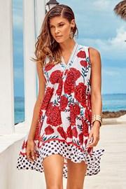 Plážové šaty Itaca red
