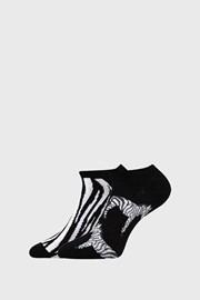 2 PACK dámskych ponožiek Zebra