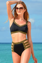 Ženski dvodijelni kupaći kostim Galaxy crni