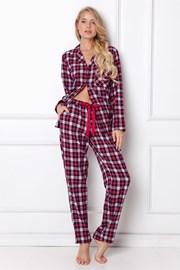 Damska piżama z flaneli Holline długa