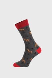 Tmavosivé ponožky Deer