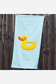 Детска плажна кърпа Патица