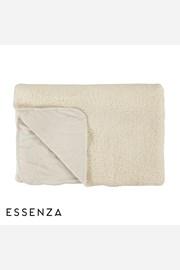 Prikrývka na posteľ Essenza Home Lammy biela