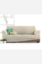 Pokrowiec na trzyosobową sofę Milos kremowy