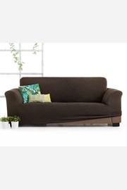 Husa Milos pentru canapea cu trei locuri, maro