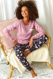 Sonya női pizsama, rózsaszín