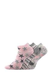 Piki 46 alacsony női zokni, 3 pár 1 csomagban