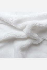 Mikroplyšové napínacie prestieradlo biele