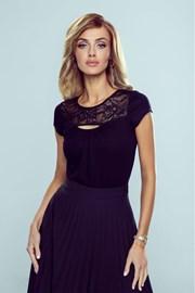 Дамска черна блуза Riva