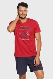 Pijama Reax, rosu-albastru