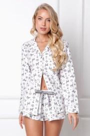 Γυναικεία φλάνελ πυτζάμα Serene κοντή