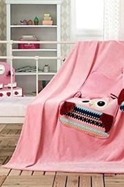 Dziecięca poduszka i kocyk w jednym - Sowa różowa