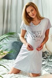 Materská dojčiaca košieľka Best mom sivá