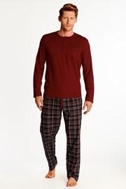 Piros színű férfi pizsama Zeta
