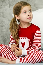 Пижама за момичета Heart