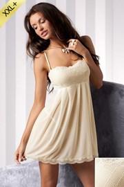 Луксозен комплект от нощничка и прашки Nicolette Cream