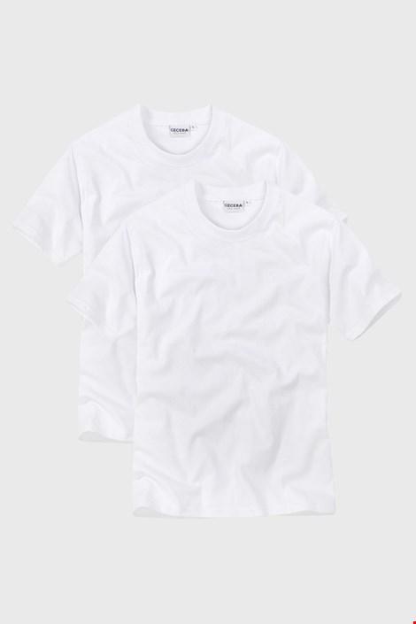 2 pack pánskych tričiek s výstrihom do V White