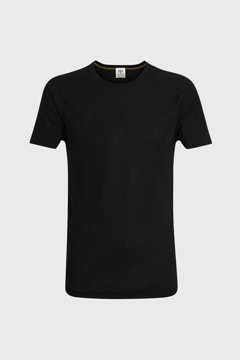 Мъжка фланела с къс ръкав в черен цвят