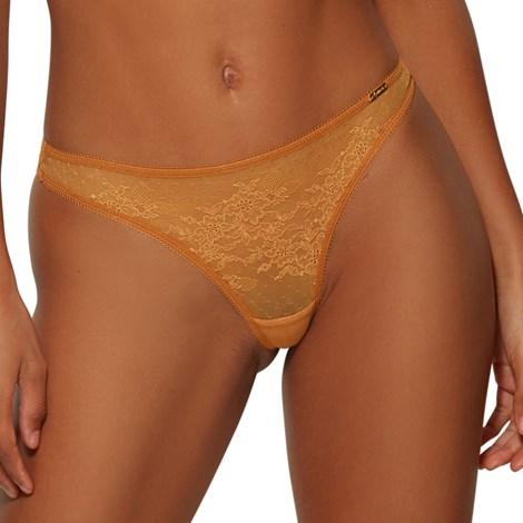 Tanga Gossard Glossies Lace κίτρινο