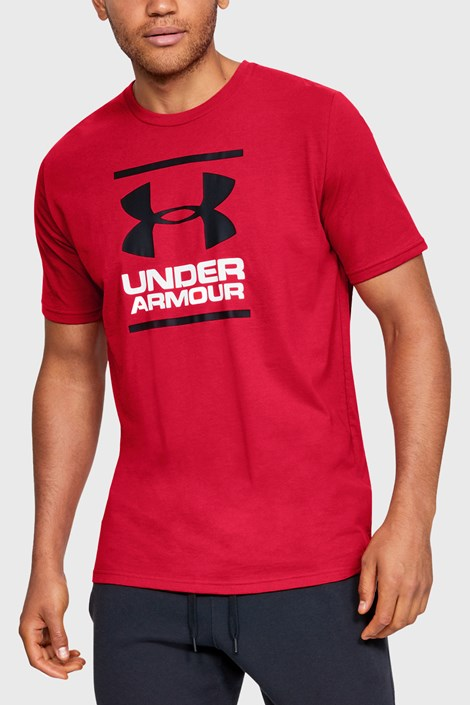 Czerwony T-shirt Under Armour Foundation