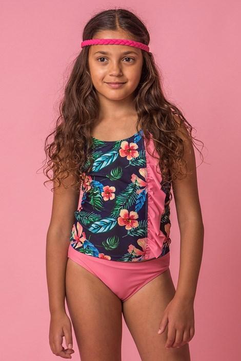 Dziewczęcy kostium kąpielowy tankini Flower